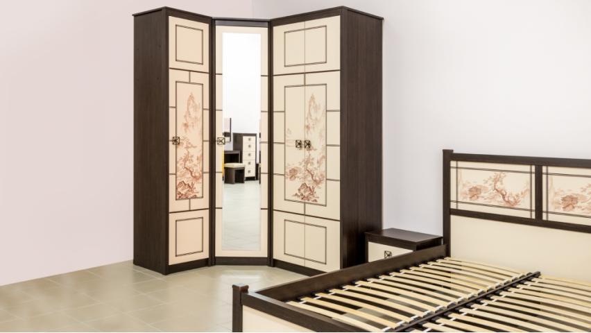 Спальня Киото угловая линум венге