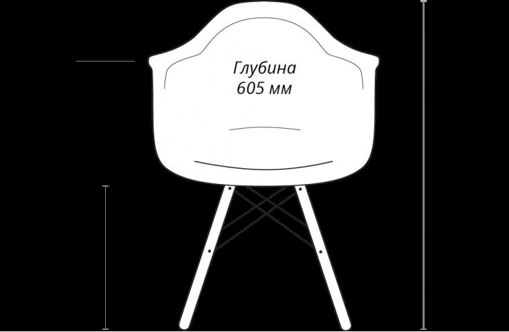 Стул-кресло Eames Style DAW Patchwork мультиколор